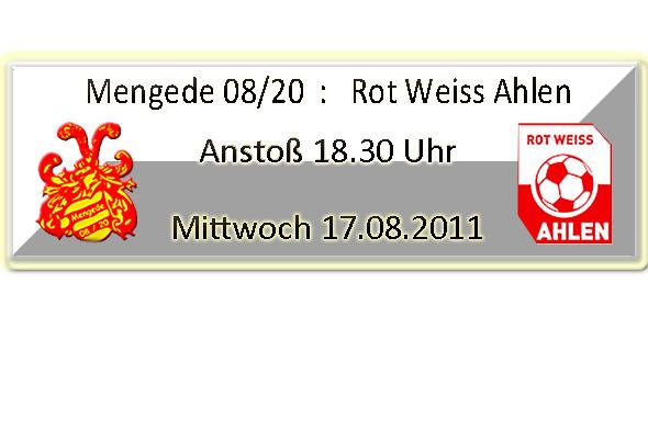 Verbandspokal 2011- Rot Weiss Ahlen zu Gast im Volksgarten.