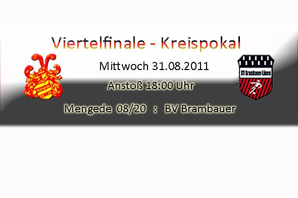 Kreispokal - Viertelfinale Mengede 08/20 - BV Brambauer