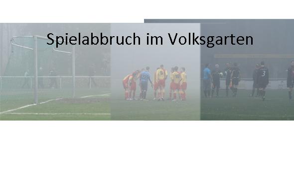 Schiedsrichter bricht wegen starken Nebel die Partei ab!