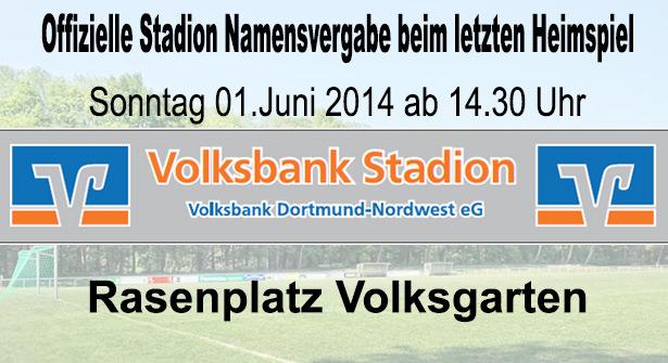 Offizielle Stadion Namensvergabe beim letzten Heimspiel
