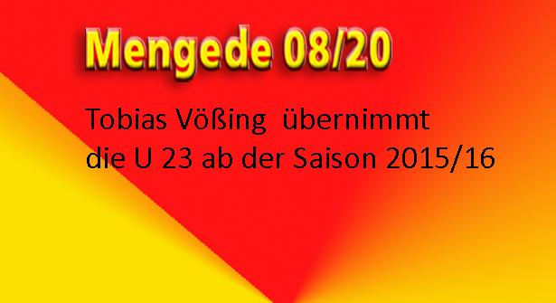 Tobias Vößing übernimmt die U23 im Sommer!