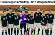 Die U17 gewinnt das Hallenturnier in Waltrop