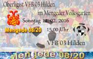 Niederrhein Oberligist VFB 03 Hilden am Sonntag in Mengede!