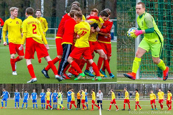 U17 gewinnt mit 2:1 gegen den Tabellenführer  FC Brünninghausen