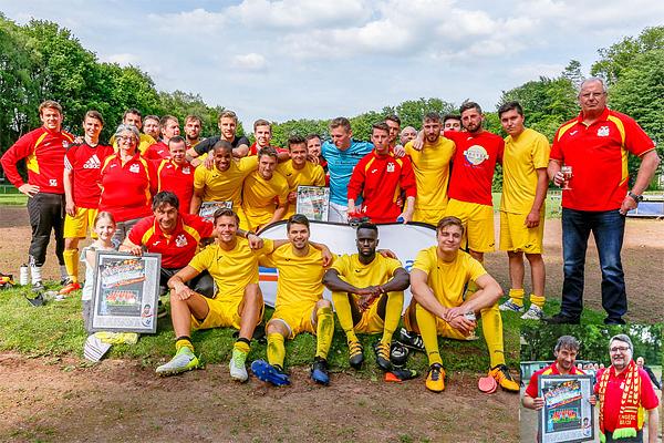 Sieg beim letzten Heimspiel. Gerner`s Team bedankt sich bei der Fangemeinde von Mengede 08/20