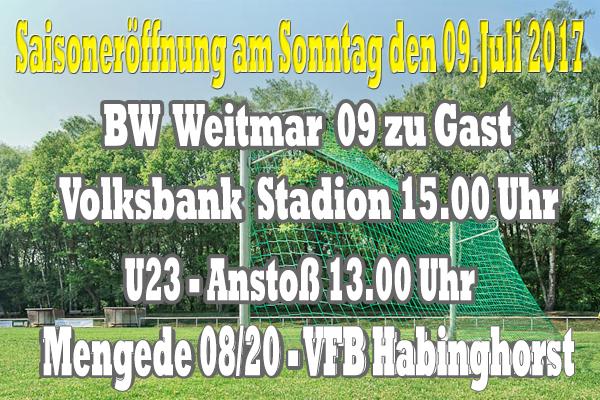 Saisoneröffnung am Sonntag gegen BW Weitmar 09