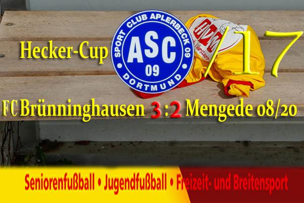 Mit erhobenen Hauptes verabschiedet sich Mengede 08/20 aus dem Hecker Cup Turnier /17