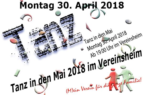 Tanz in den Mai 2018 im Vereinsheim