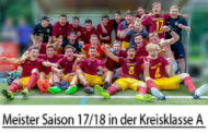 Beeindruckende Kulisse im Volksgarten Mengede - Die U19 steigt in die Bezirksliga auf.