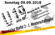 1. Meisterschaftsspiel - Heimspiel U19 Bezirksliga
