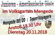 Junioren - Amerikanisches Team zu Gast