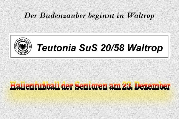 Budenzauber - Hallenfußball in Waltrop