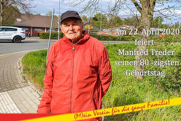 Ein Urgestein der Mengeder Fußballszene feiert runden Geburtstag - Manfred Treder wird 80 Jahre alt