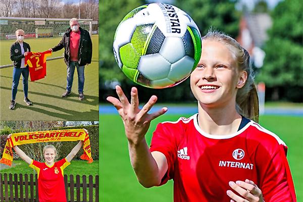 Erfolgreiche Talentförderung  durch Mengede 08/20 e. V.  -                  Nina Zimmer ist U 17/19 Nationalspielerin geworden