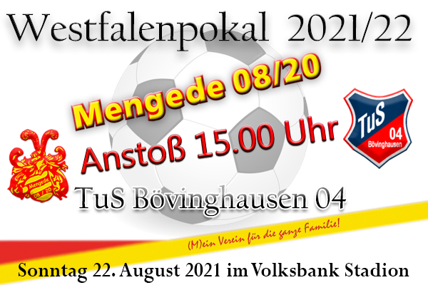 Westfalenpokal - Erstes Highlight im Volksbank Stadion